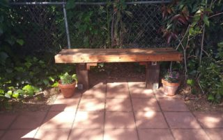 Finished bench ready for sitting