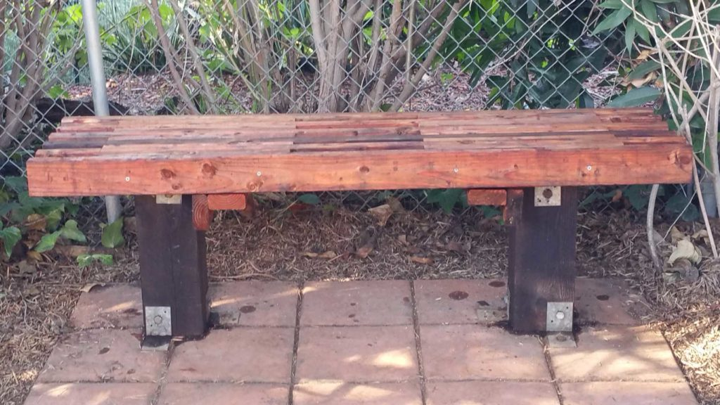 DIY Garden Bench made from 2x4s for less than $30