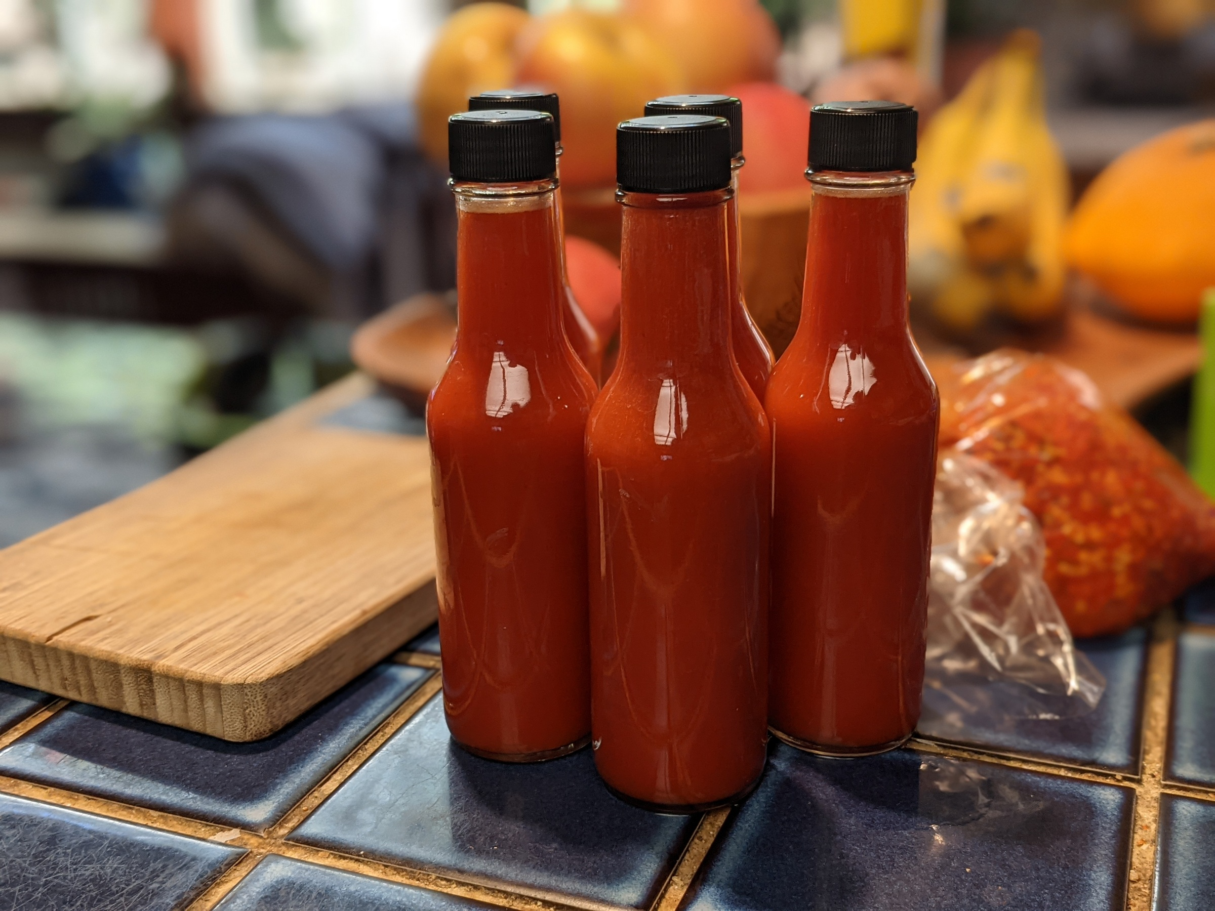 First round of fermented hot sauce in batch 21